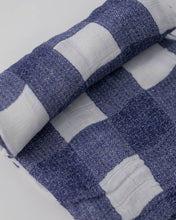 Load image into Gallery viewer, Deluxe Muslin Swaddle - Blue Plaid