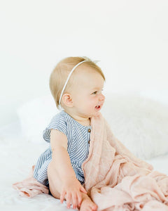 Deluxe Muslin Swaddle - Pink Windowpane