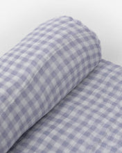 Load image into Gallery viewer, Deluxe Muslin Swaddle Single - Lavender Gingham