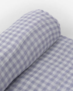 Deluxe Muslin Swaddle Single - Lavender Gingham