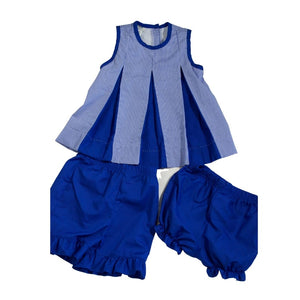 Pleated Spirit Set - Blue & White