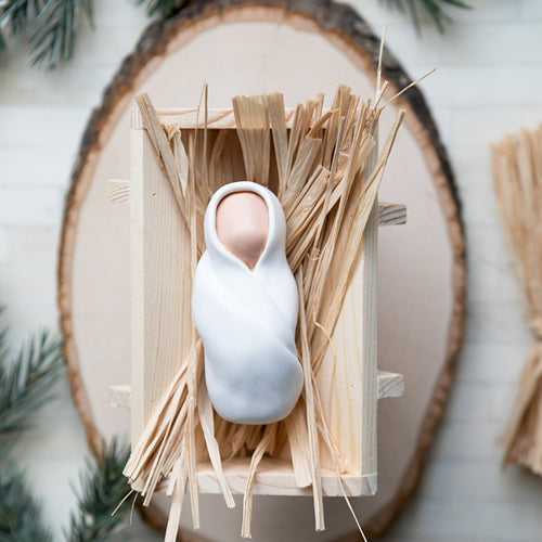The Giving Manger Rustic Wood Charger