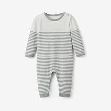 Load image into Gallery viewer, Mini Stripe Cotton Knit Jumpsuit - Sage