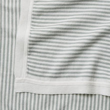 Load image into Gallery viewer, Mini Stripe Cotton Knit Blanket - Sage