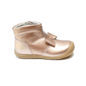 Hilary Bow Boot - Rosegold