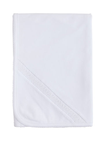 Welcome Home Layette Blanket - White