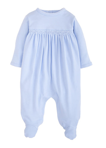 Welcome Home Layette Footie - Blue