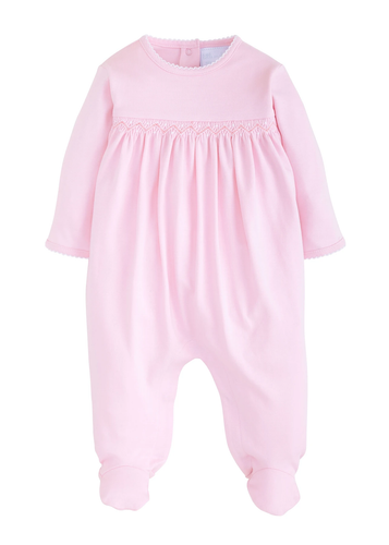 Welcome Home Layette Footie - Pink