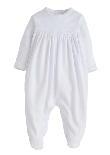 Welcome Home Layette Footie - White