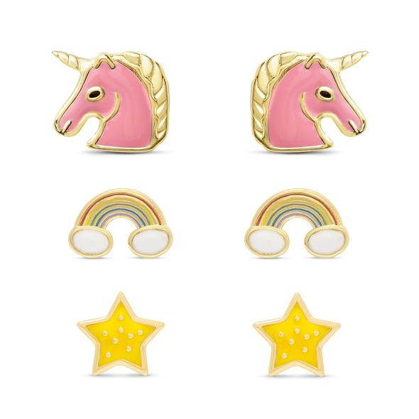 Magical Unicorn Stud Set in Sterling Silver