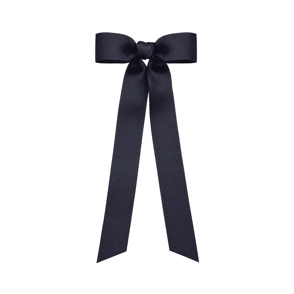 Grosgrain Streamer Bow - Navy