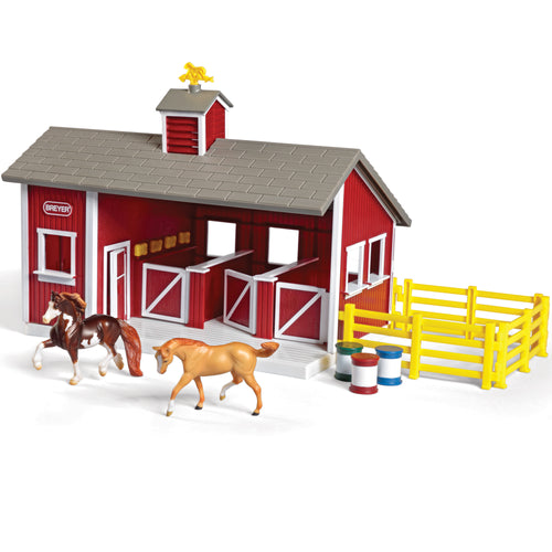 Red Stable Playset
