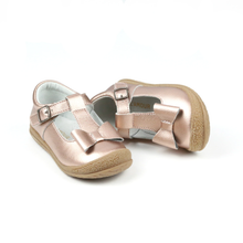 Load image into Gallery viewer, Emma Classic Bow T-Strap Mary Jane - Rose Gold