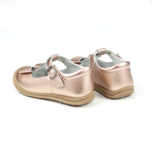 Emma Classic Bow T-Strap Mary Jane - Rose Gold