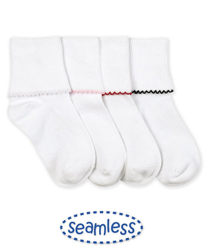 Seamless Tatted Edge Socks (2111)