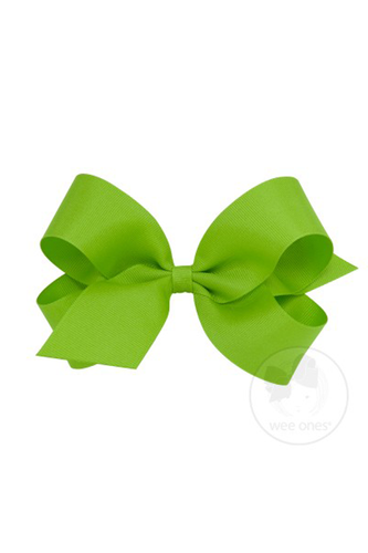 Classic Grosgrain Hair Bow - Apple Green