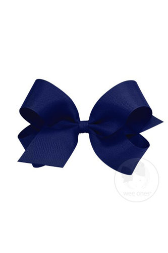 Classic Grosgrain Hair Bow - Light Navy