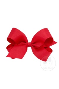 Classic Grosgrain Hair Bow - Red