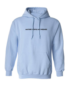 Mature People Light Blue Hoodie