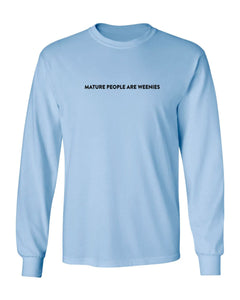Mature People Light Blue Long Sleeve