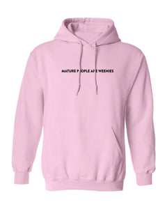 Mature People Light Pink Hoodie