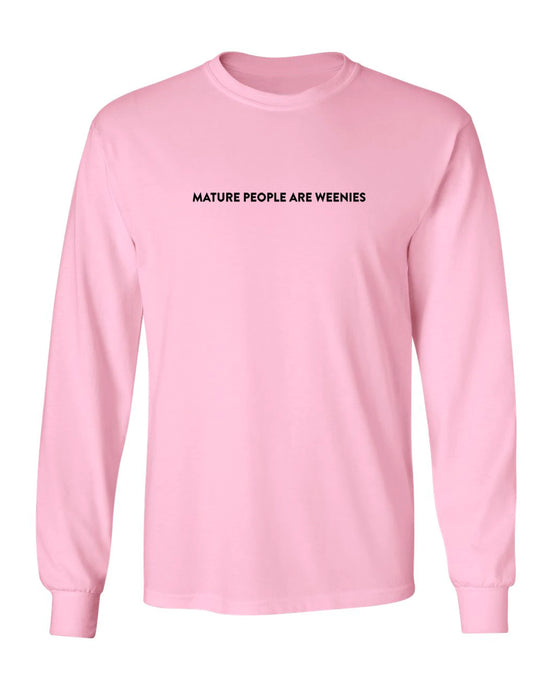 Mature People Light Pink Long Sleeve
