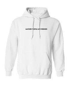 Mature People White Hoodie
