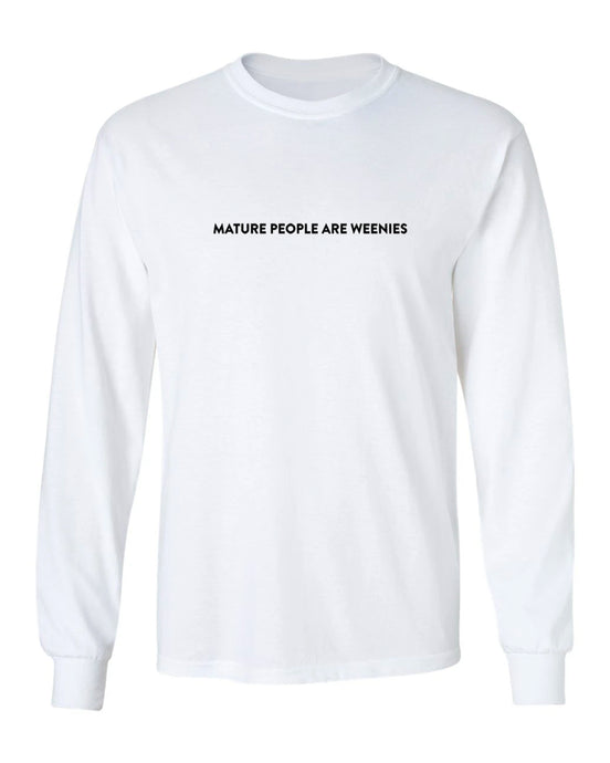Mature People White Long Sleeve