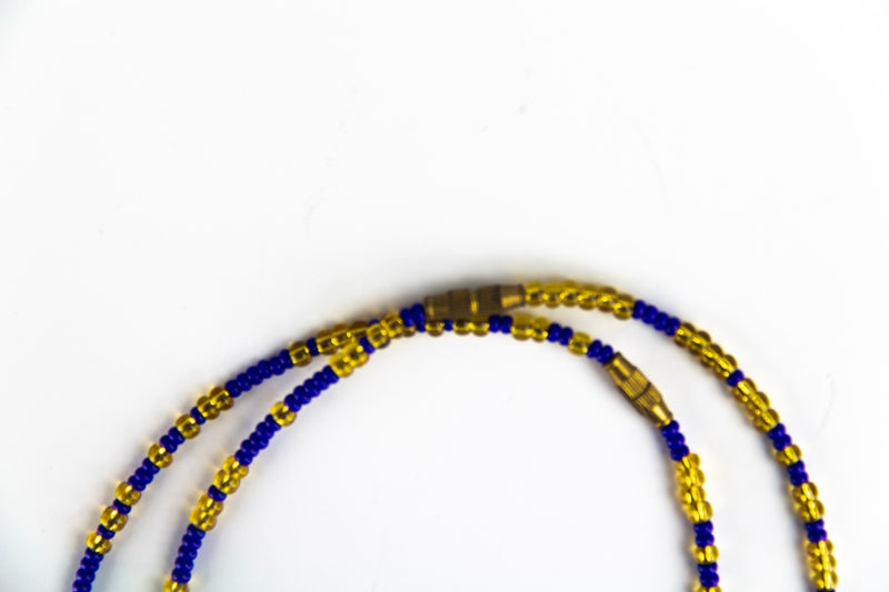 Midnight ankle beads