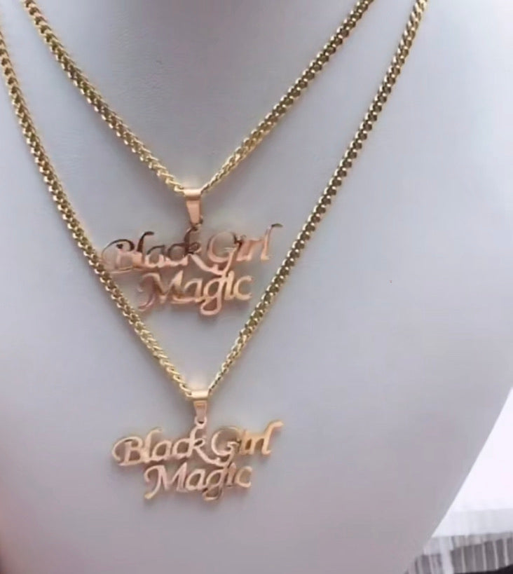 Black Girl Magic Necklace