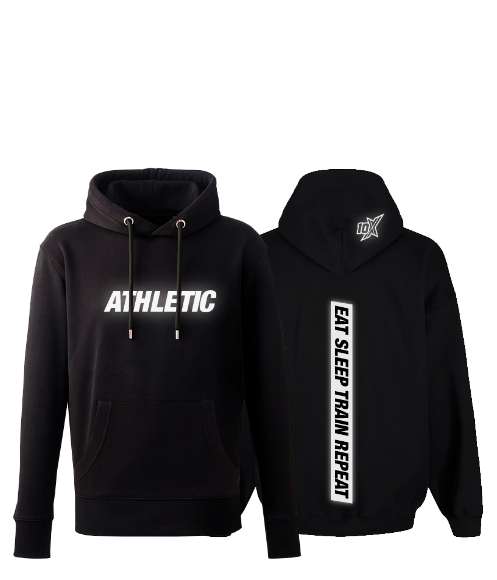 10X ATHLETIC CHUNKY HOODIE, REFLECTIVE