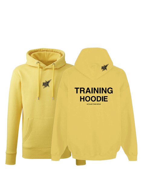 10X ATHLETIC CHUNKY TRAINING HOODIE YELLOW