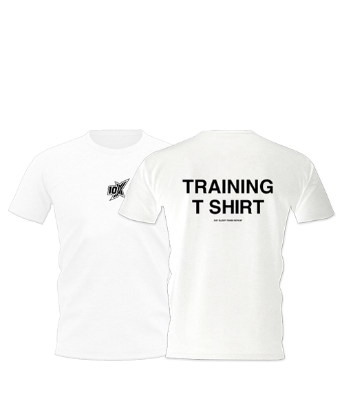 10X TRAINING T-SHIRT, WHITE