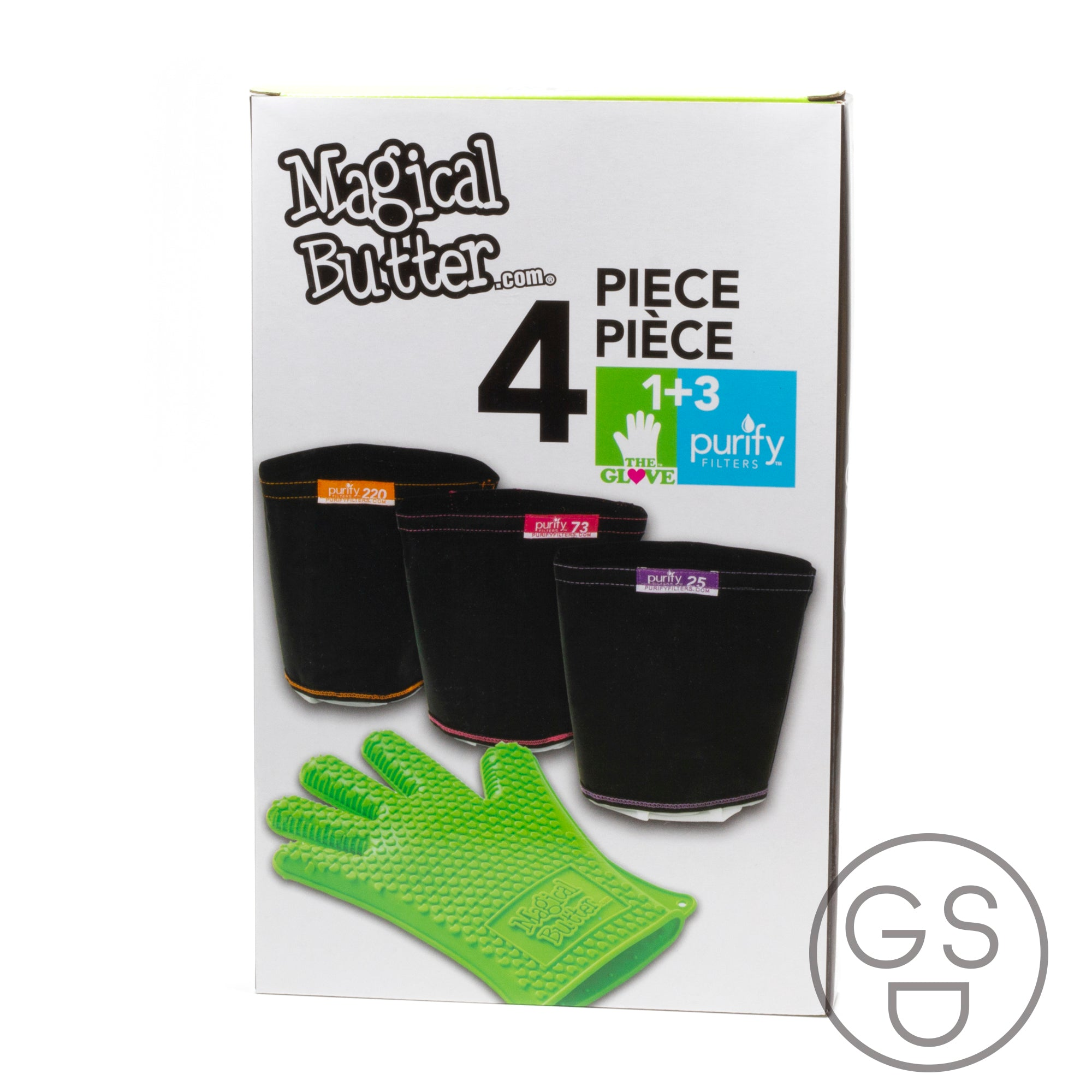 Magical Butter 4-Pack Filter Bags and Glove