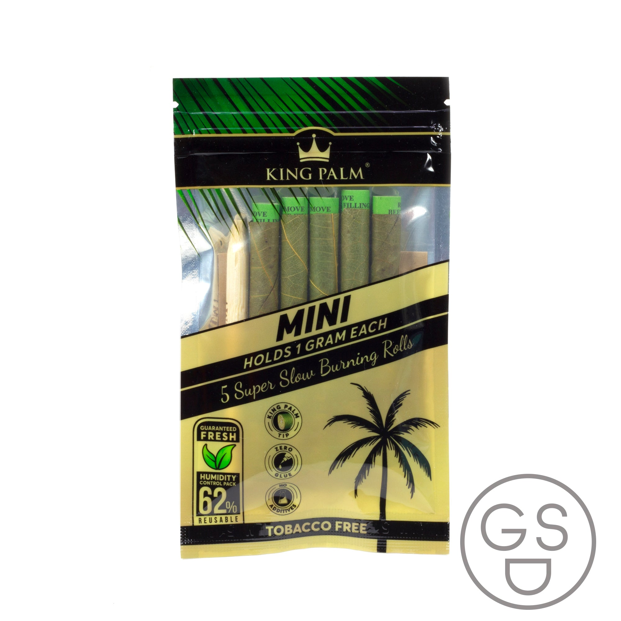King Palm Natural Palm Leaf Blunt Wraps - Mini 5 Pack