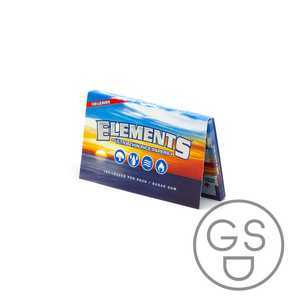 Elements - Ultra Thin Rice Papers Single Wide