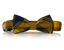 Yellow Plaid Bow Tie