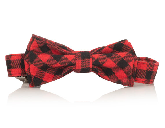 Red Buffalo Plaid Bow Tie Collar