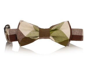 Plaid Bow Tie Collar
