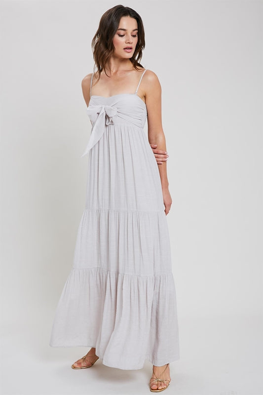 Shell Tie Tiered Maxi Dress
