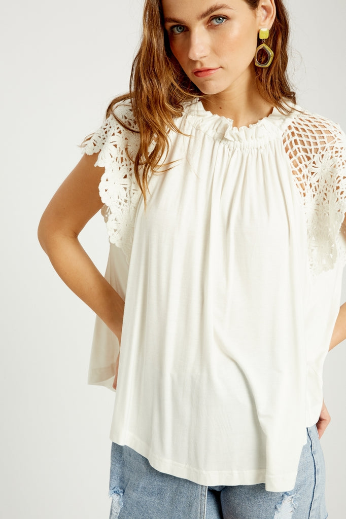 Ivory Crochet Lace Top