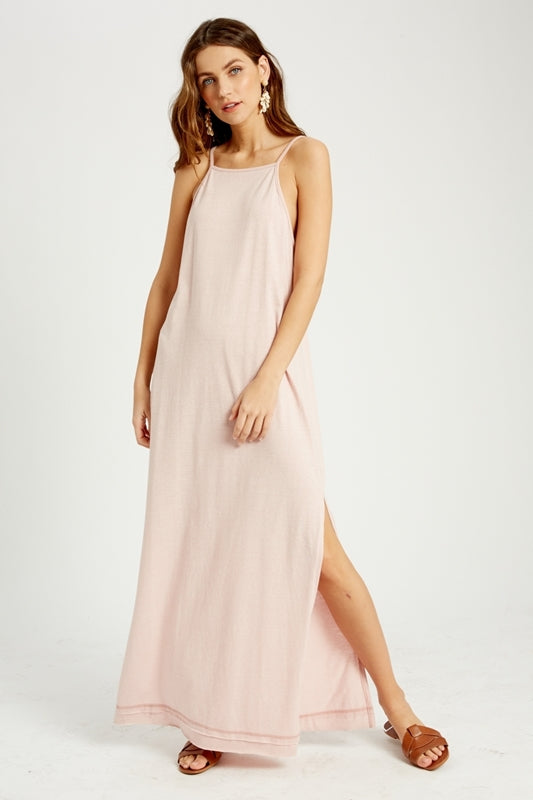 Blush Open Back Maxi Dress
