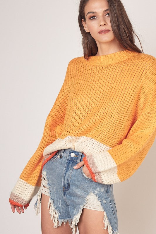 Sunkist Layered Sweater
