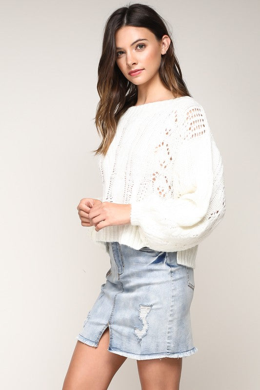 White Pretzel Sweater