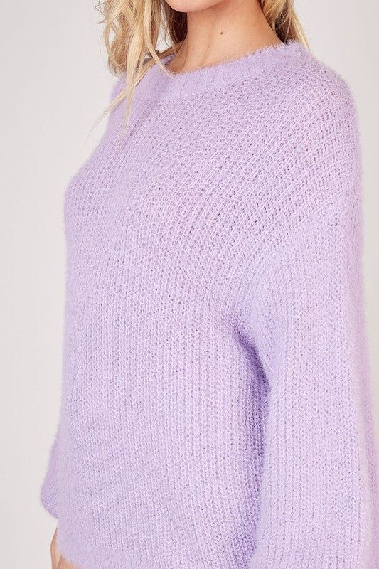 Lavender Furry Sweater