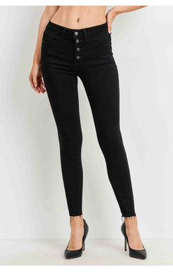 JBD Black Button Down Skinny
