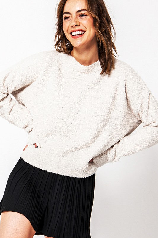 Cozy Long Sleeve Sweater- Alpaca