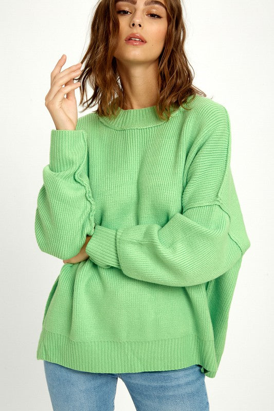 Honeydew All Day Long Sweater