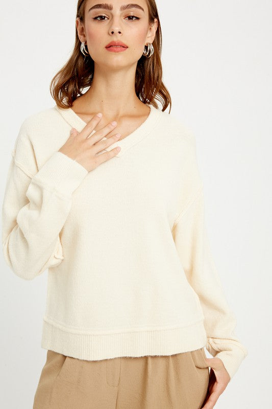 Fallin Sweater - Cream