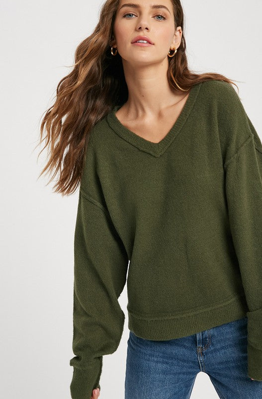 Fallin Sweater - Green